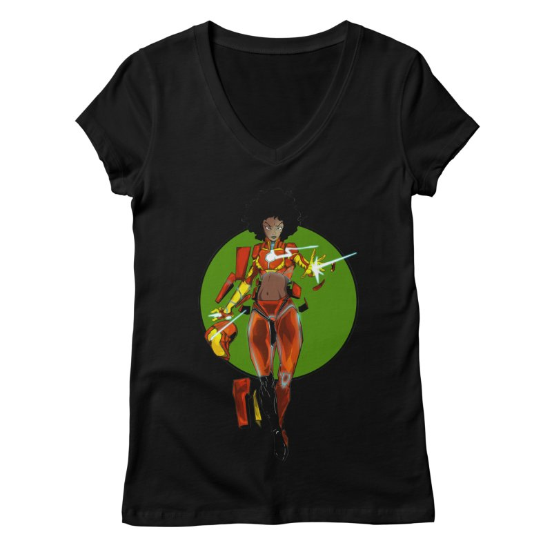 heart Women's V-Neck by wolly mcnair's Artist Shop