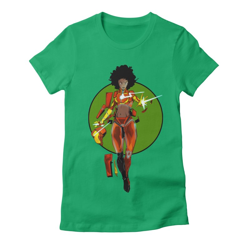 heart Women's Fitted T-Shirt by wolly mcnair's Artist Shop
