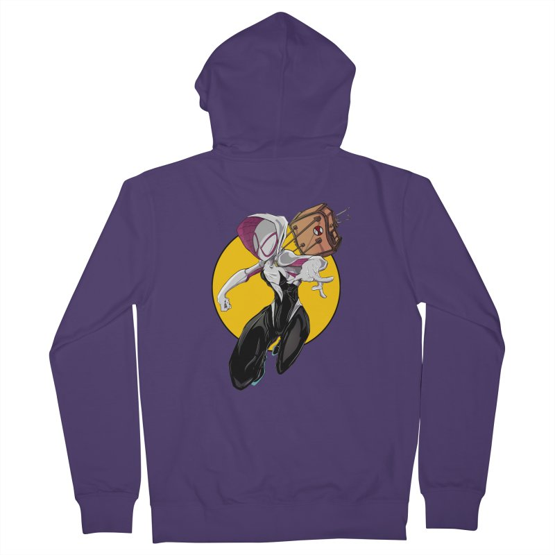 im' late!!  Women's French Terry Zip-Up Hoody by wolly mcnair's Artist Shop