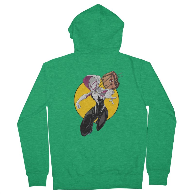 im' late!!  Men's Zip-Up Hoody by wolly mcnair's Artist Shop