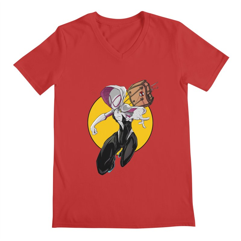 im' late!!  Men's Regular V-Neck by wolly mcnair's Artist Shop