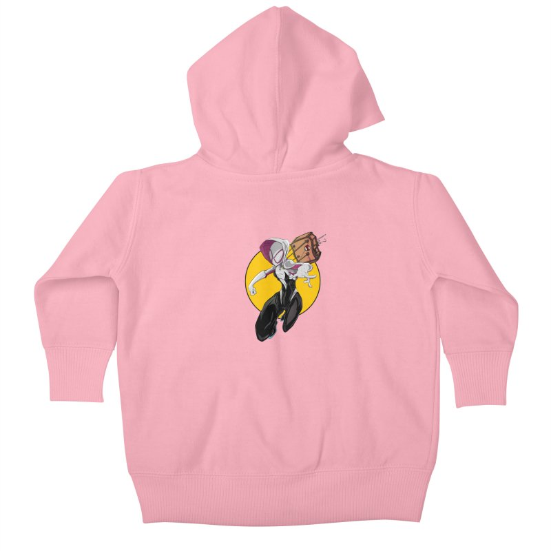 im' late!!  Kids Baby Zip-Up Hoody by wolly mcnair's Artist Shop
