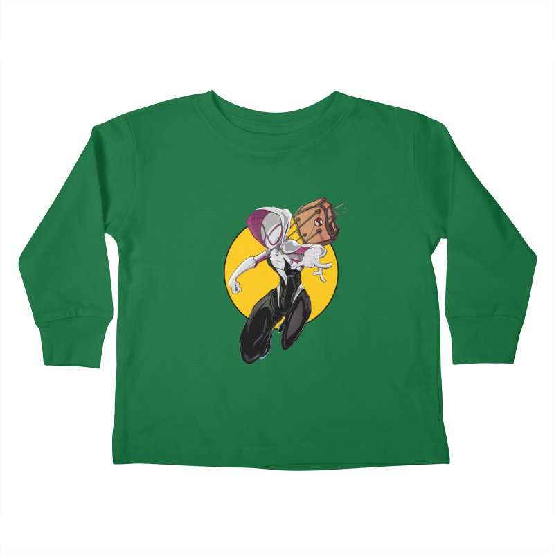 im' late!!  Kids Toddler Longsleeve T-Shirt by wolly mcnair's Artist Shop
