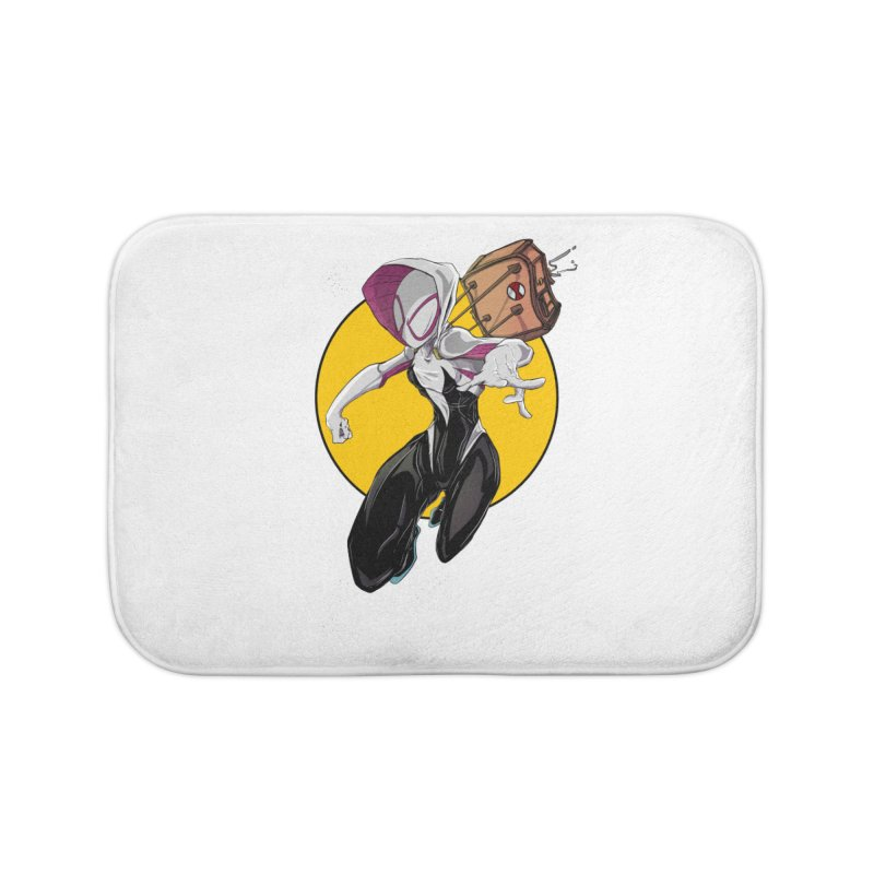 im' late!!  Home Bath Mat by wolly mcnair's Artist Shop