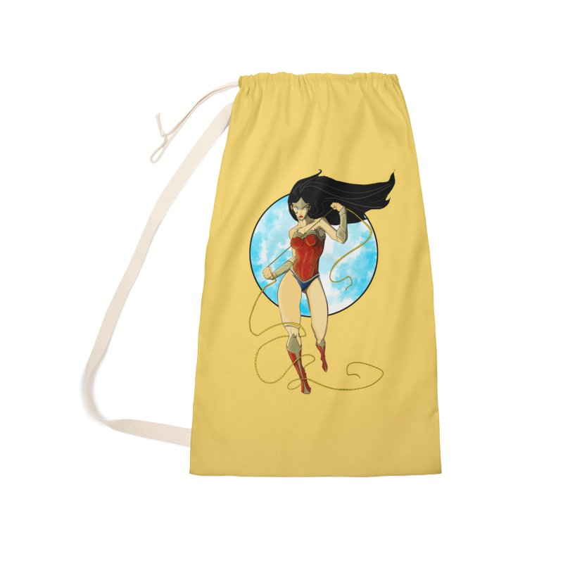 Power  Accessories Laundry Bag Bag by wolly mcnair's Artist Shop