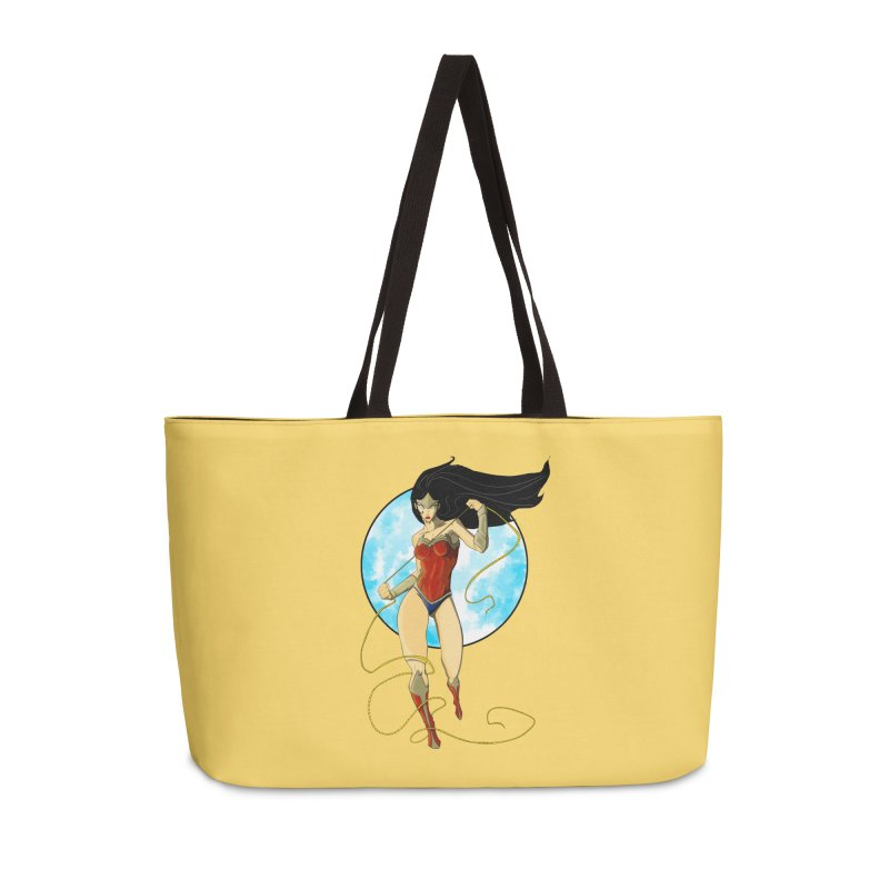 Power  Accessories Weekender Bag Bag by wolly mcnair's Artist Shop