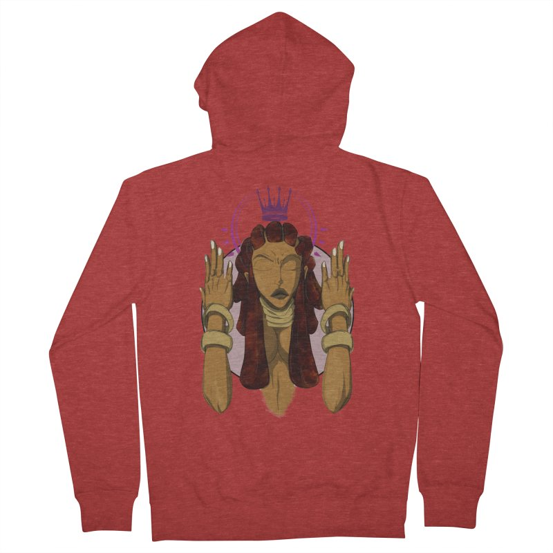QUEEN Women's French Terry Zip-Up Hoody by wolly mcnair's Artist Shop