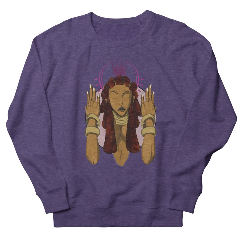 QUEEN Women's French Terry Sweatshirt by wolly mcnair's Artist Shop