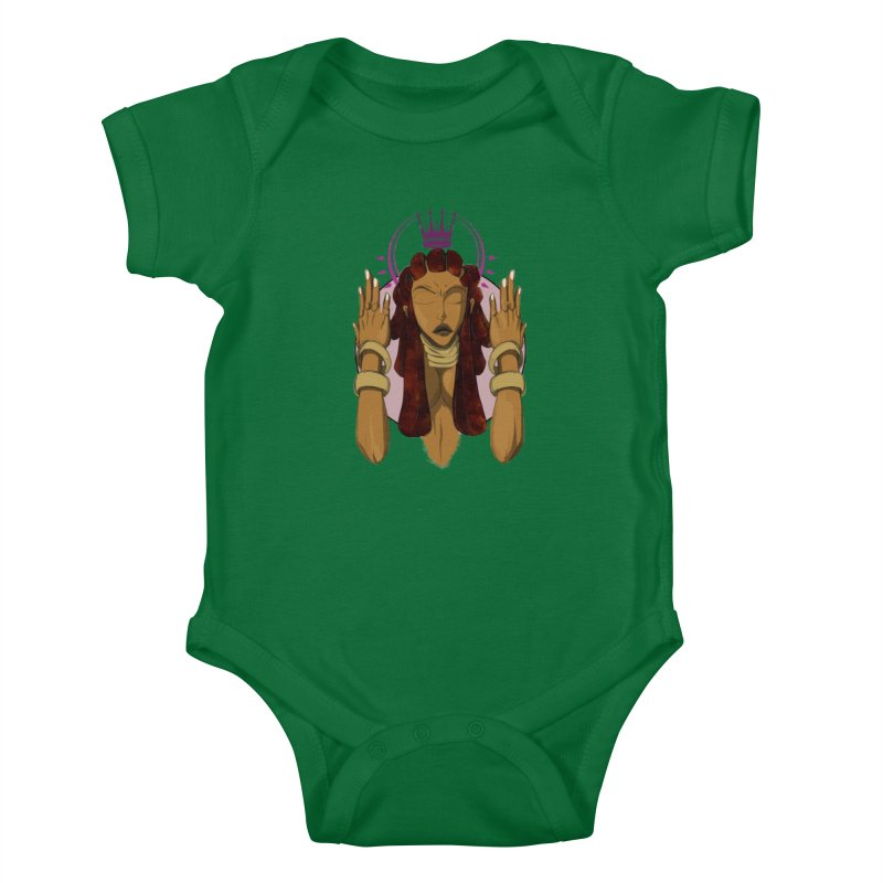 QUEEN Kids Baby Bodysuit by wolly mcnair's Artist Shop