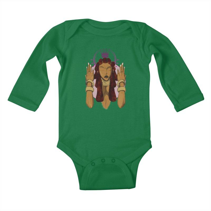 QUEEN Kids Baby Longsleeve Bodysuit by wolly mcnair's Artist Shop
