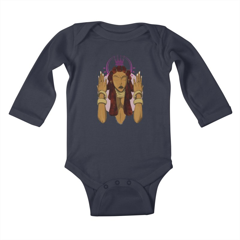 QUEEN Kids Baby Longsleeve Bodysuit by wolly mcnair's Artist Shop