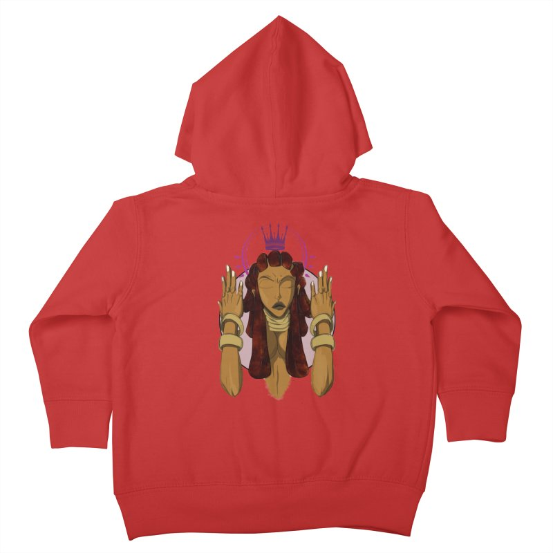 QUEEN Kids Toddler Zip-Up Hoody by wolly mcnair's Artist Shop