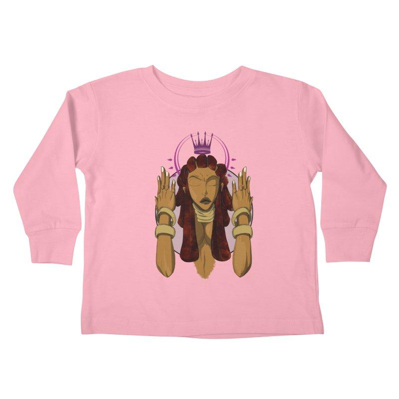 QUEEN Kids Toddler Longsleeve T-Shirt by wolly mcnair's Artist Shop