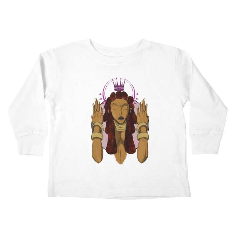 QUEEN Kids Toddler Longsleeve T-Shirt by wolly mcnair's Artist Shop