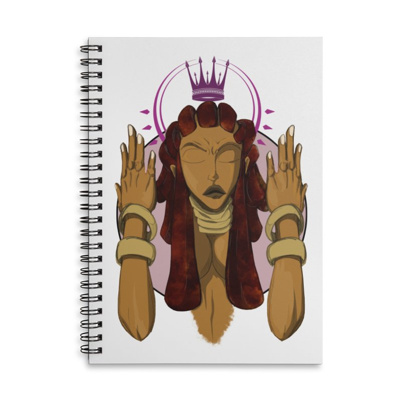 QUEEN Accessories Notebook by wolly mcnair's Artist Shop