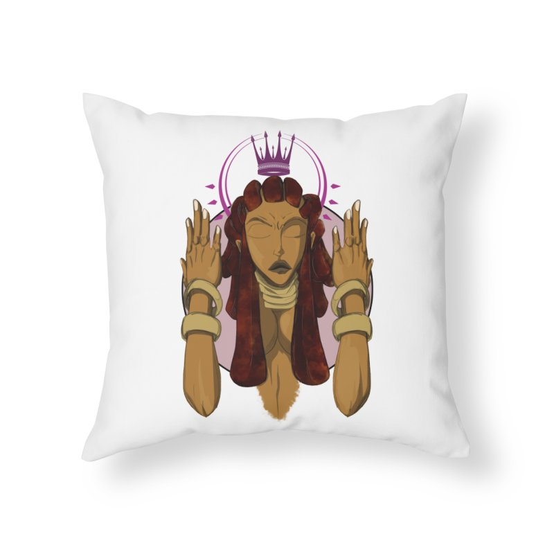 QUEEN Home Throw Pillow by wolly mcnair's Artist Shop