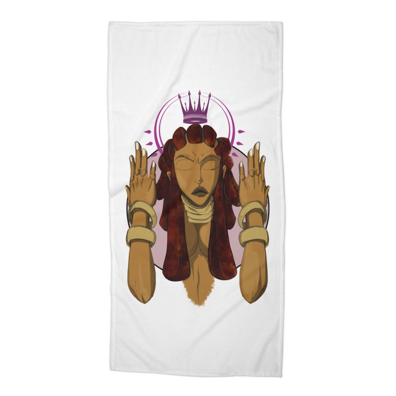 QUEEN Accessories Beach Towel by wolly mcnair's Artist Shop