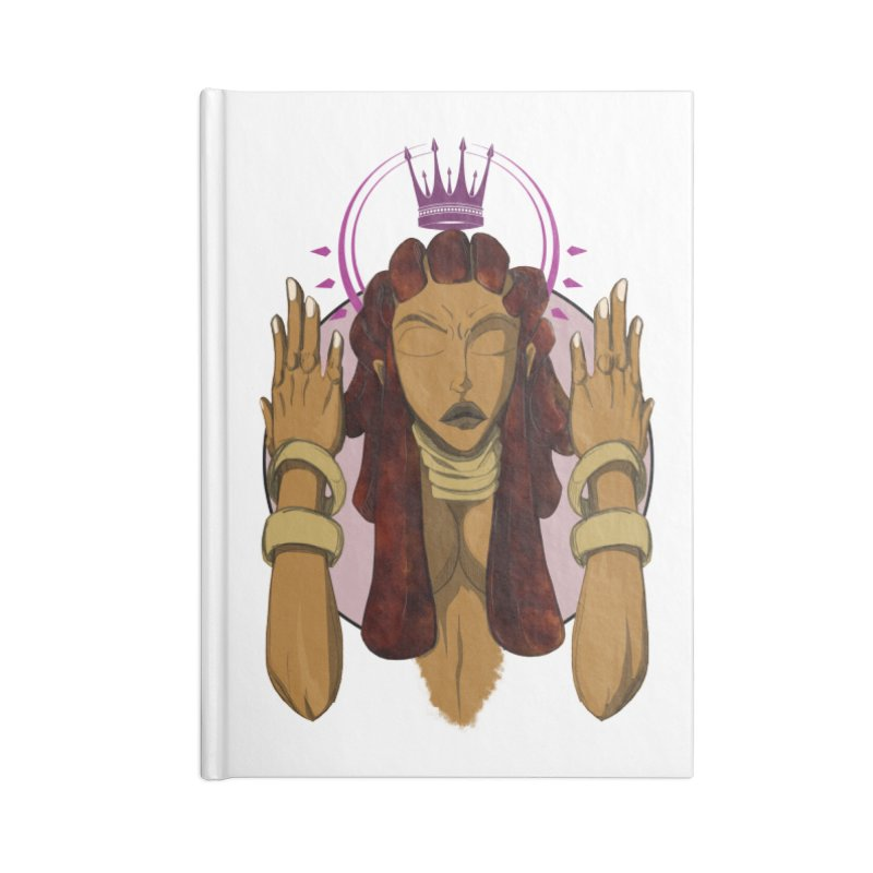 QUEEN Accessories Blank Journal Notebook by wolly mcnair's Artist Shop