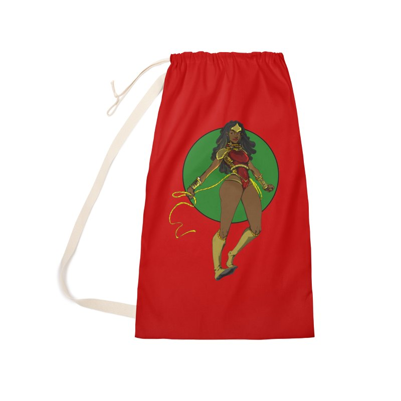 Nubia 2 Accessories Laundry Bag Bag by wolly mcnair's Artist Shop