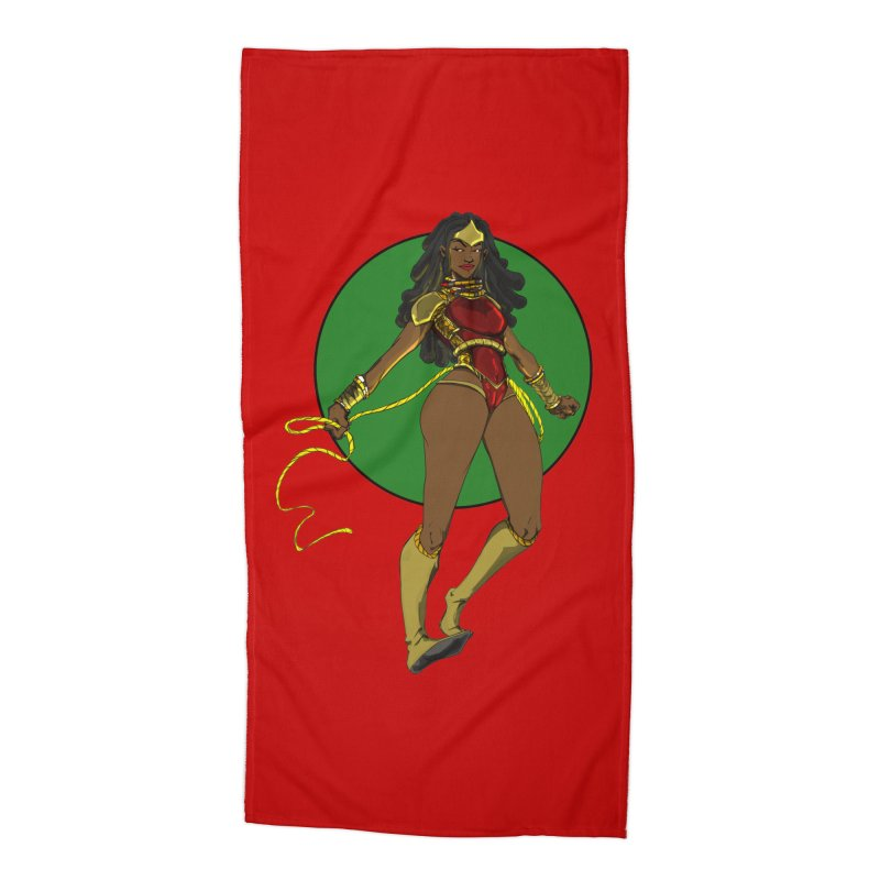 Nubia 2 Accessories Beach Towel by wolly mcnair's Artist Shop