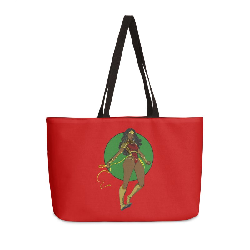 Nubia 2 Accessories Weekender Bag Bag by wolly mcnair's Artist Shop
