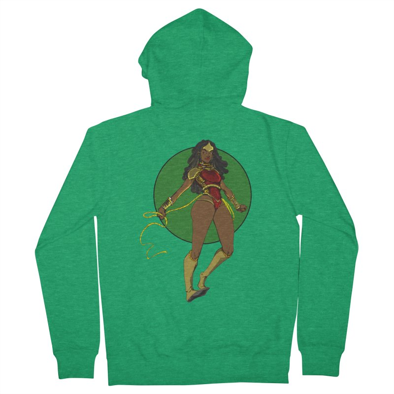 Nubia nu Women's Zip-Up Hoody by wolly mcnair's Artist Shop