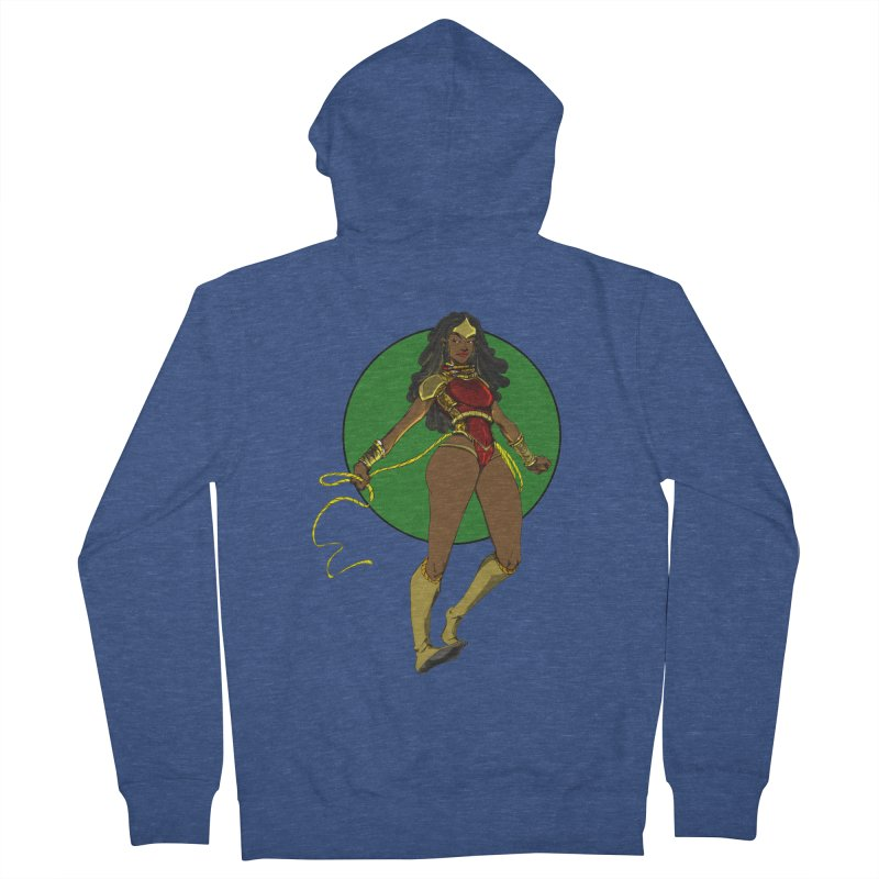 Nubia nu Women's French Terry Zip-Up Hoody by wolly mcnair's Artist Shop