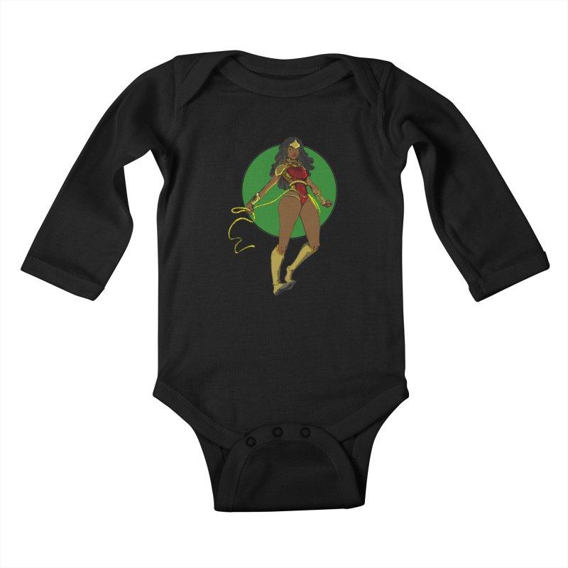 Nubia nu Kids Baby Longsleeve Bodysuit by wolly mcnair's Artist Shop