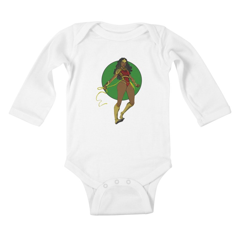 Nubia nu Kids Baby Longsleeve Bodysuit by wolly mcnair's Artist Shop
