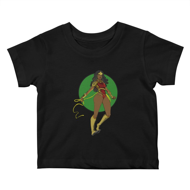 Nubia nu Kids Baby T-Shirt by wolly mcnair's Artist Shop