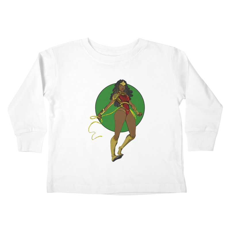 Nubia nu Kids Toddler Longsleeve T-Shirt by wolly mcnair's Artist Shop