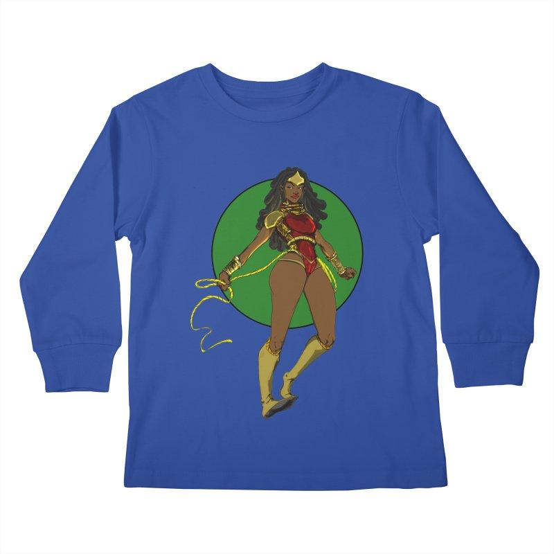 Nubia nu Kids Longsleeve T-Shirt by wolly mcnair's Artist Shop