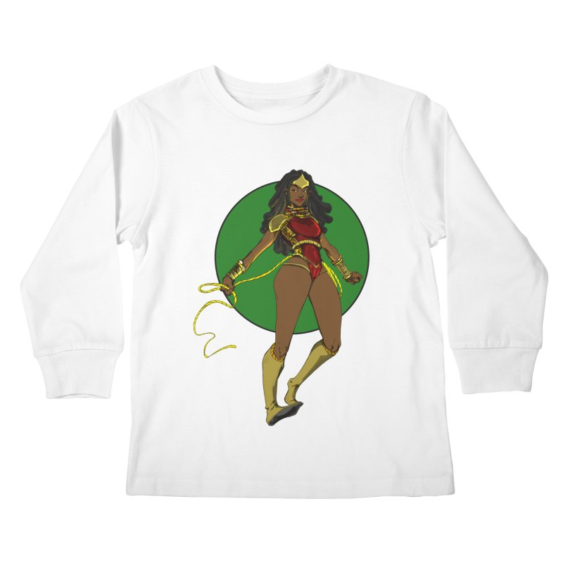 Nubia nu Kids Longsleeve T-Shirt by wolly mcnair's Artist Shop