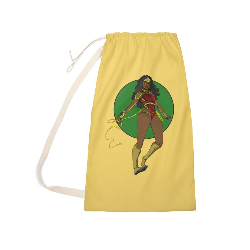 Nubia nu Accessories Laundry Bag Bag by wolly mcnair's Artist Shop