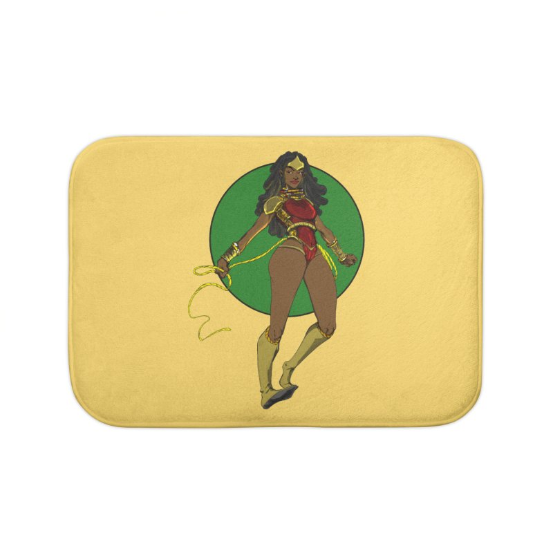 Nubia nu Home Bath Mat by wolly mcnair's Artist Shop