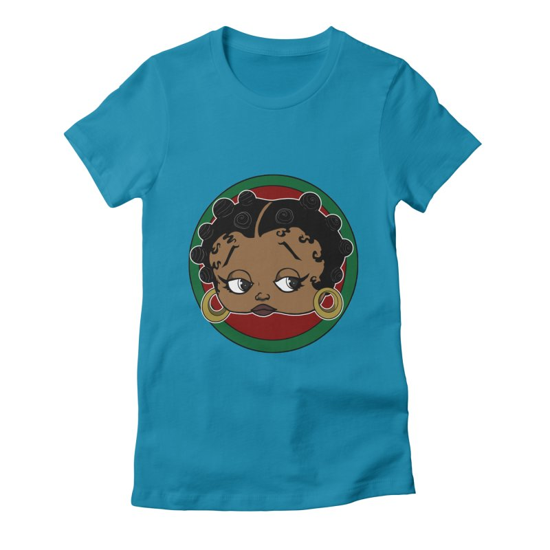 Boogie BOO Women's Fitted T-Shirt by wolly mcnair's Artist Shop