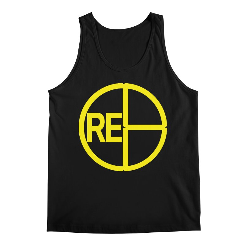 Cre8 Logo on Black in Men's Regular Tank Black by womadeod's Artist Shop