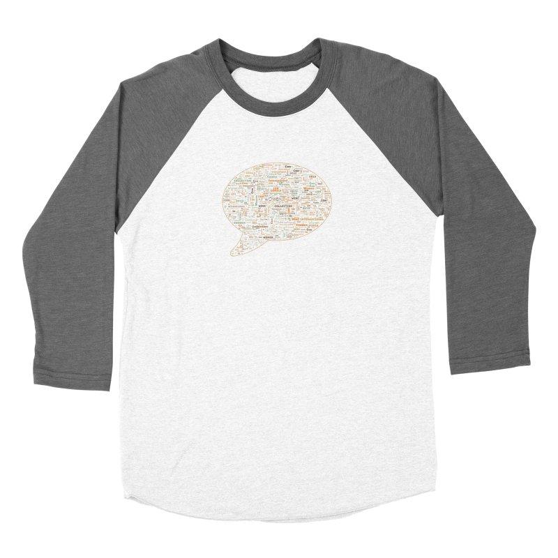 WinC Con 2018 Orange Men's Baseball Triblend Longsleeve T-Shirt by Women in Comics Collective Artist Shop