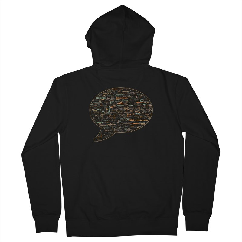 WinC Con 2018 Orange Women's French Terry Zip-Up Hoody by Women in Comics Collective Artist Shop