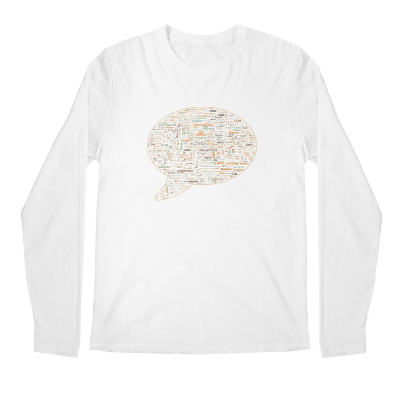 WinC Con 2018 Orange Men's Regular Longsleeve T-Shirt by Women in Comics Collective Artist Shop