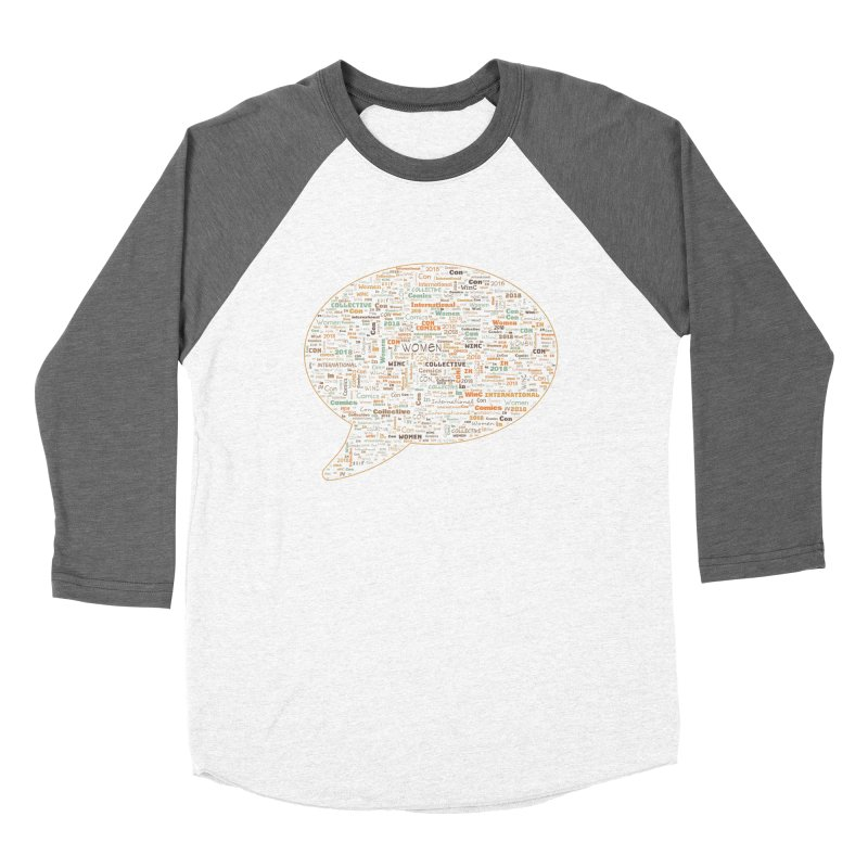 WinC Con 2018 Orange Men's Baseball Triblend Longsleeve T-Shirt by Women in Comics Collective Artist Shop