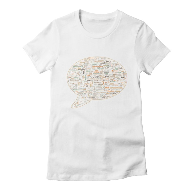 WinC Con 2018 Orange Women's Fitted T-Shirt by Women in Comics Collective Artist Shop