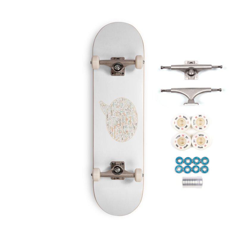 WinC Con 2018 Orange Accessories Complete - Premium Skateboard by Women in Comics Collective Artist Shop