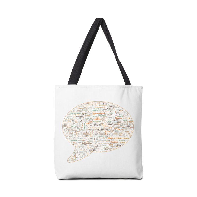 WinC Con 2018 Orange Accessories Tote Bag Bag by Women in Comics Collective Artist Shop