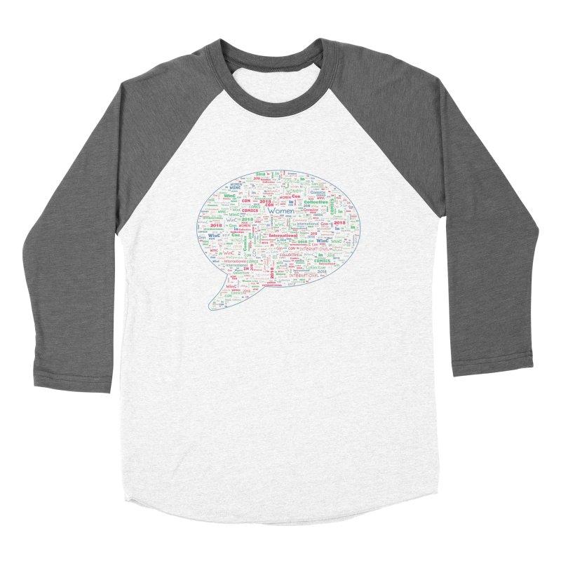 WinC Con 2018 Blue Women's Baseball Triblend Longsleeve T-Shirt by Women in Comics Collective Artist Shop