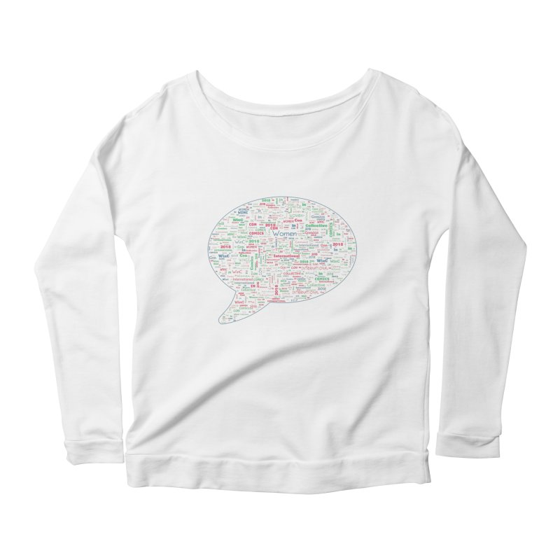 WinC Con 2018 Blue Women's Scoop Neck Longsleeve T-Shirt by Women in Comics Collective Artist Shop