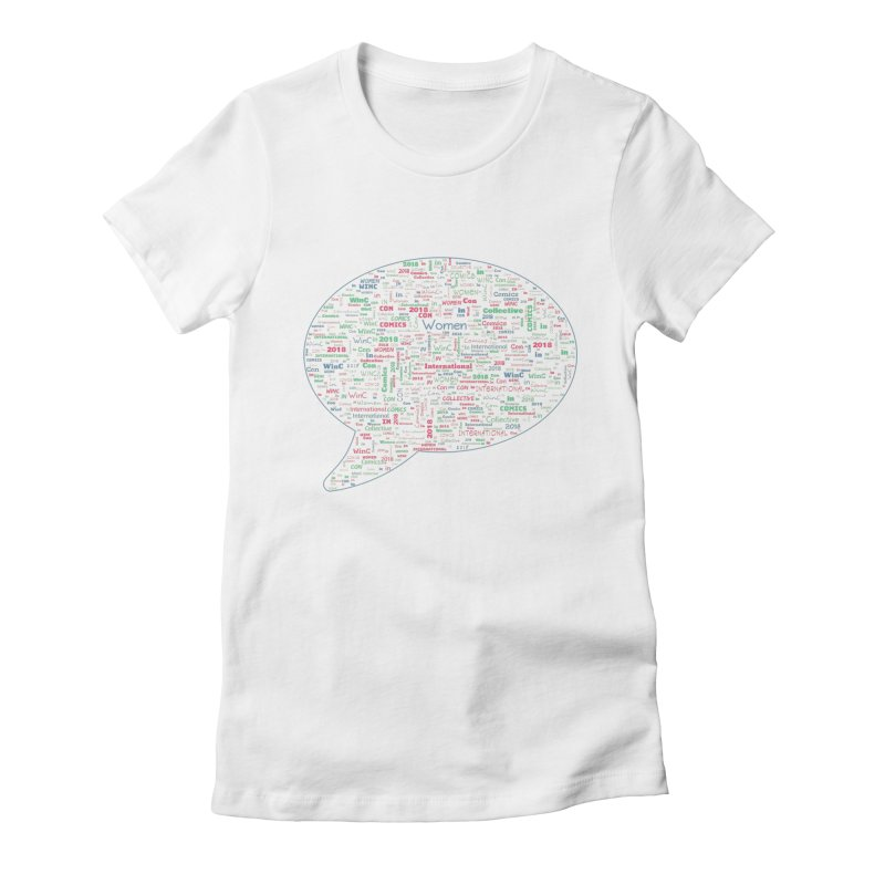 WinC Con 2018 Blue Women's Fitted T-Shirt by Women in Comics Collective Artist Shop