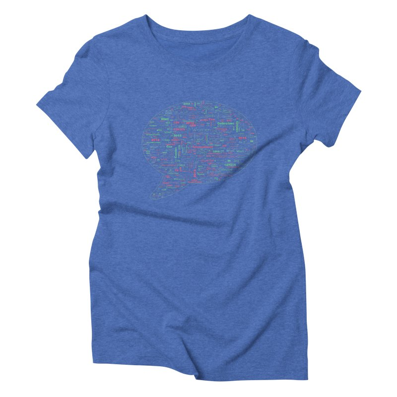WinC Con 2018 Blue Women's Triblend T-Shirt by Women in Comics Collective Artist Shop