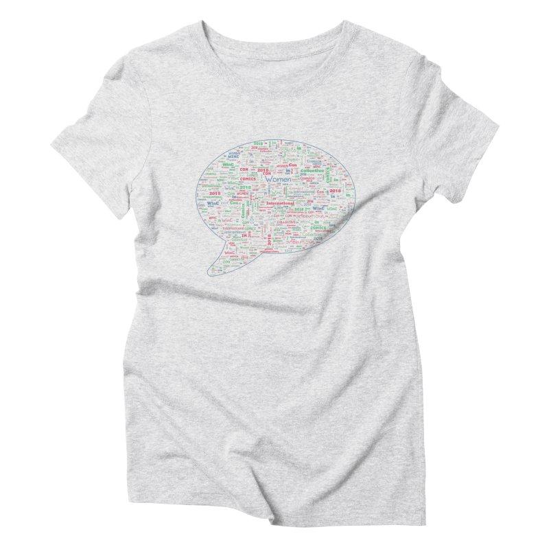 WinC Con 2018 Blue Women's Triblend T-Shirt by Women in Comics Collective Artist Shop