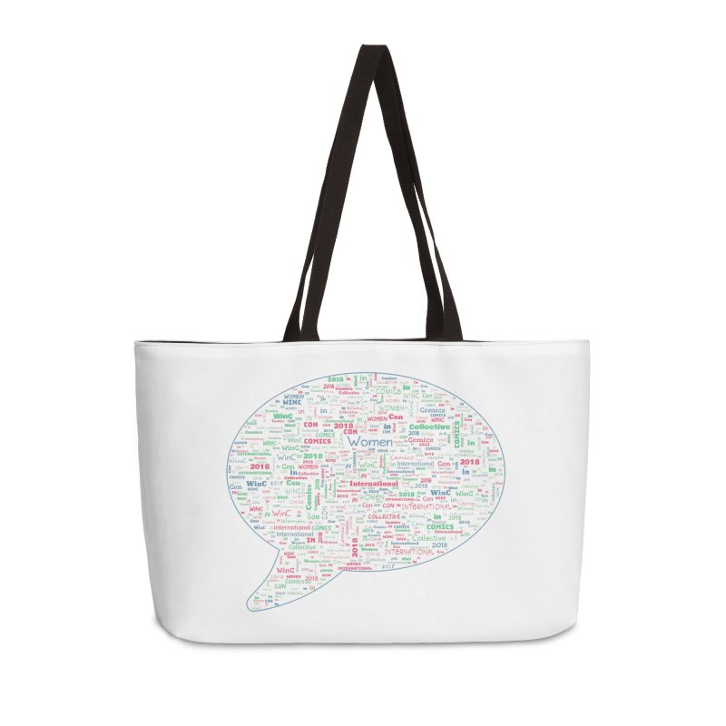 WinC Con 2018 Blue Accessories Weekender Bag Bag by Women in Comics Collective Artist Shop